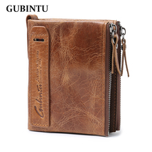 100% Genuine leather wallet men real leather purse Top Quality men wallets male clutch zipper coin pocket wholesale price !!