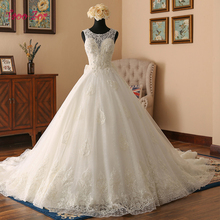 Buy TaooZor Robe De Mariage Royal Princess Wedding Dress 2018 Chapel Train Appliques Tulle Real Pictures A-Line Wedding Dresses for $389.99 in AliExpress store