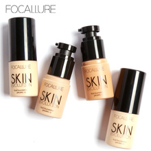 Focallure Face Foundation Makeup Concealer Whitening Moisturizer Oilcontrol Waterproof Liquid Foundation SPF15(China)