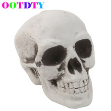OOTDTY Skull Decor Prop Skeleton Head Plastic Halloween Day Coffee Bars Ornament APR12_30