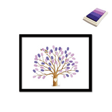 30x40cm urple tree pattern DIY finger graffiti decoration painting marriage room living room bedroom birthday party painting(China)