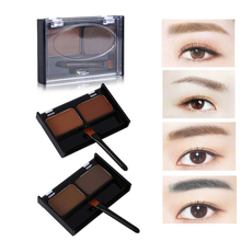 Pro Eye Brow Makeup 2 Color Eyebrow Powder With Brush Eyebrow Stamp Make Up Shadow Palette with brush Cosmetics Maquiagem set