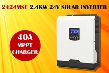 (MSE) Solar inverter 3kva 2400w 24v 230Vac with 40A MPPT solar charger and battery charger pure sine wave