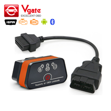 Vgate iCar2 ELM 327 Bluetooth Adapter V2.1 OBD2 Auto OBD Scanner Car Code Reader ELM327 Diagnostic Scan Tool 16pin OBDII cable(China)