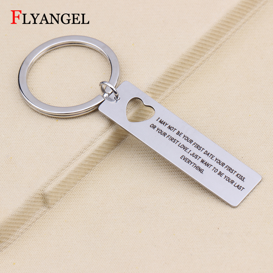 PERSONALISED HEART FREE ENGRAVING HALF RED KEY RING