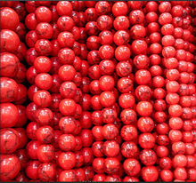 4MM 6MM 8MM 10MM 12MM Bulk Natural Red  Stones Round Spacer Loose Beads For Necklace Bracelet Charms Jewelry Making
