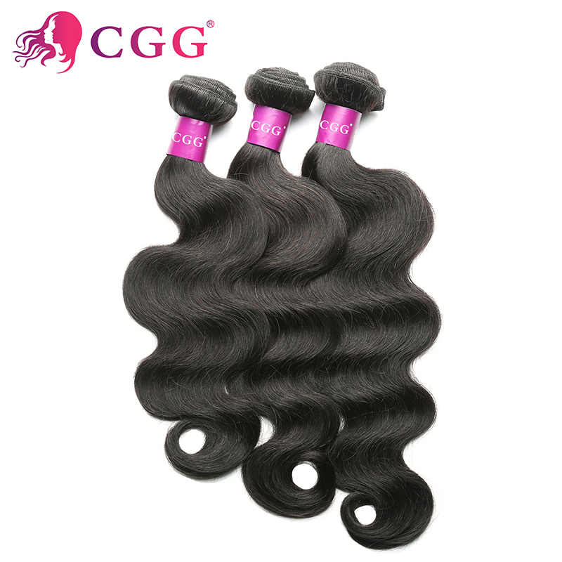 Indian Hair weave bundles CGG Hair Products 3Pcs/Lot Unprocessed Human Hair Weaves Best 7A Indian virgin hair body wave<br><br>Aliexpress