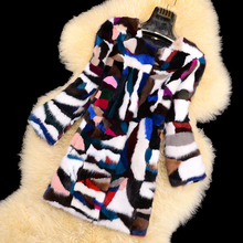 Real natural genuine mink fur coat women winter warm jacket ladies fashion colorful outwear custom any size