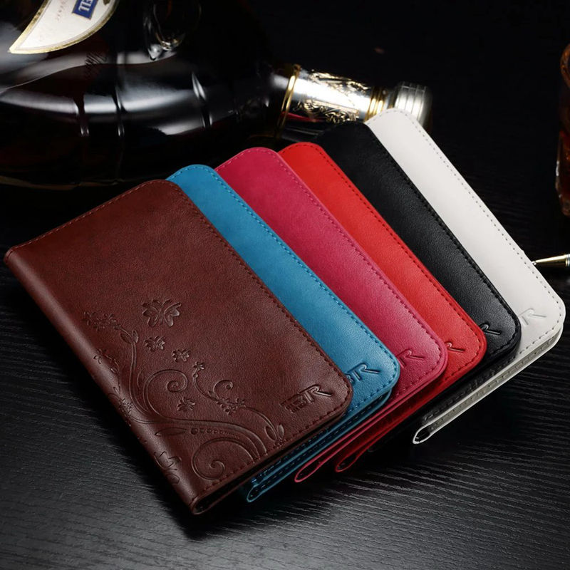 Luxury Leather Wallet universal mobile phone pockets holster Cover font b Case b font for iPhone
