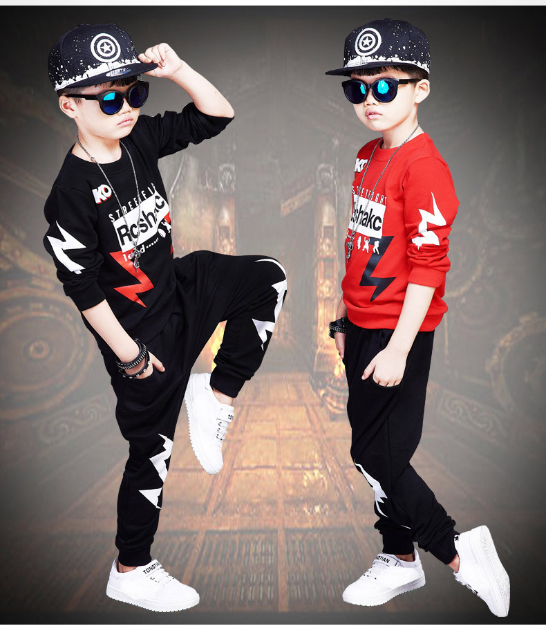 2 Pieces Sports Teen Girls Boys Clothing set For autumn Spring Outfit Street Dancing costumes Hoodies Tops + Haren Pants Suits<br>