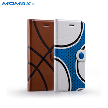 Momax Football Basketball Flip PU Leather Case for iPhone 6 6s Wallet Card Slots Full Body Phone Cover for iPhone6 iPhone6S Capa(China)