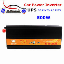 UPS Inversor DC To AC 12V 220V Car Power Inverter 500W Universal Uninterrupted Power Supply Auto Charge