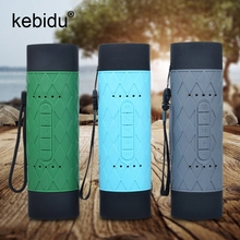Kebidu 3.5mm Audio Micro USB Outdoor Bluetooth 4.0 Speaker Self-Timer Support Ring Selfie Handsfree AUX TF Card Slot(China)