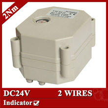DC24V motor valve actuator, 2 wires(CR201) automatic control actuator for valve, 2Nm, indicator type