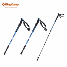 KingCamp 2Pcs Walking Stick Nordic Trekking Poles Ultralight Shock Absorption Carbon Cane Hiking Stick Outdoor Equipment(China)