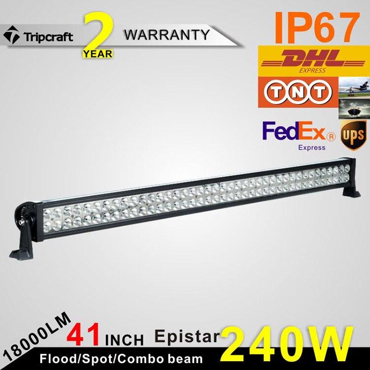 41 Inch 240W LED Light Bar for offroad Boat Car Truck 4x4 SUV ATV excavator Fog Lamp Spotlight Floodlight  12V 24V<br><br>Aliexpress