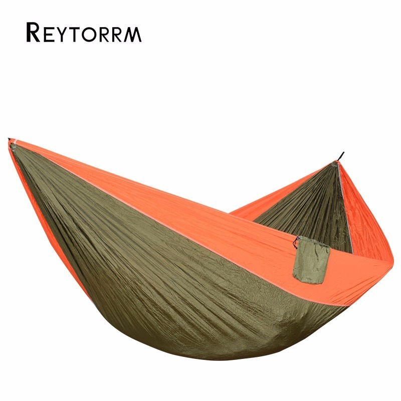 Outdoor Large Size Hammocks Nylon For 2 Person Sleeping Bed Hamac For Travel Camping Survival Hanging Swing Chair 320*200cm<br>