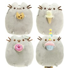 4 styles 15cm Lovely Pusheen Cat Cookie & Icecream & Doughnut & Cake Stuffed Plush Animals doll Toys for kids christmas gifts