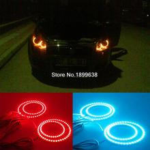 For Fiat Linea RGB LED headlight halo angel eyes kit car styling accessories 2007 2008 2009 2010 2011 2012 2013 2014 2015(China)