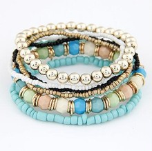 Europe and the United States are Bohemia hot mix BEADS BEADED STRETCH BRACELET beads multilayer(China)