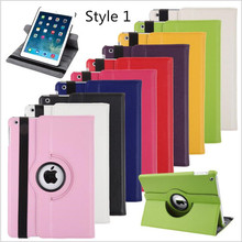 "Smart Sleep Wake Up Case for Apple i pad 2 3 4 5 6  Air 1 2 mini 1 2 3 4 Pro 9.7"" Flip Leather Holder Cover 360 Rotating Cases"