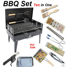 Outdoor camping hiking Charcoal Grill Picnic BBQ Grill for Barbecue grill oven outdoor stove