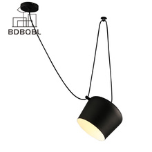 BDBQBL 1/2/3/4 Heads small drum LED Pendant Lamp Restaurant Modern clothing store window pendant light Creative Indoor Lighting