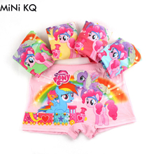 5Pcs/1lot Kids Girls Cartoon Underwear Milk Fabrics My Children Little Horse Character Panties 3Y to 11Y Cute Underpants(China)