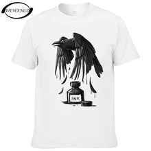 2017 Fashion Mens T-shirt raven/dragon/whale/eagle/cat Ink Summer Men Casual Short Sleeve T shirt Hipster Tops Youth Tees(China)