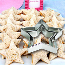 Promotion Christmas Cookie Cutter! 3pcs /set  Star Shape Stainless Steel Cookies Cutter Mold Cake Rice Molded