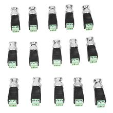 15 Pcs Screw Terminal Coaxial Coax Cat5 to BNC Male Video Balun Connectors(China)