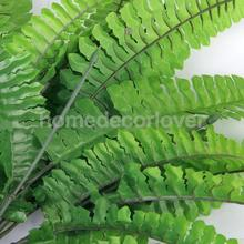 1x Green Imitation Fern Plastic Artificial Grass Leaves Plant for Home Wedding Arrangement Decor