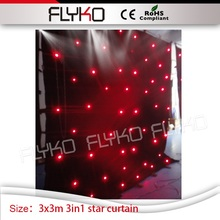 3M by 3M star curtain rgb 3in1 christmas holiday event decor led curtain star