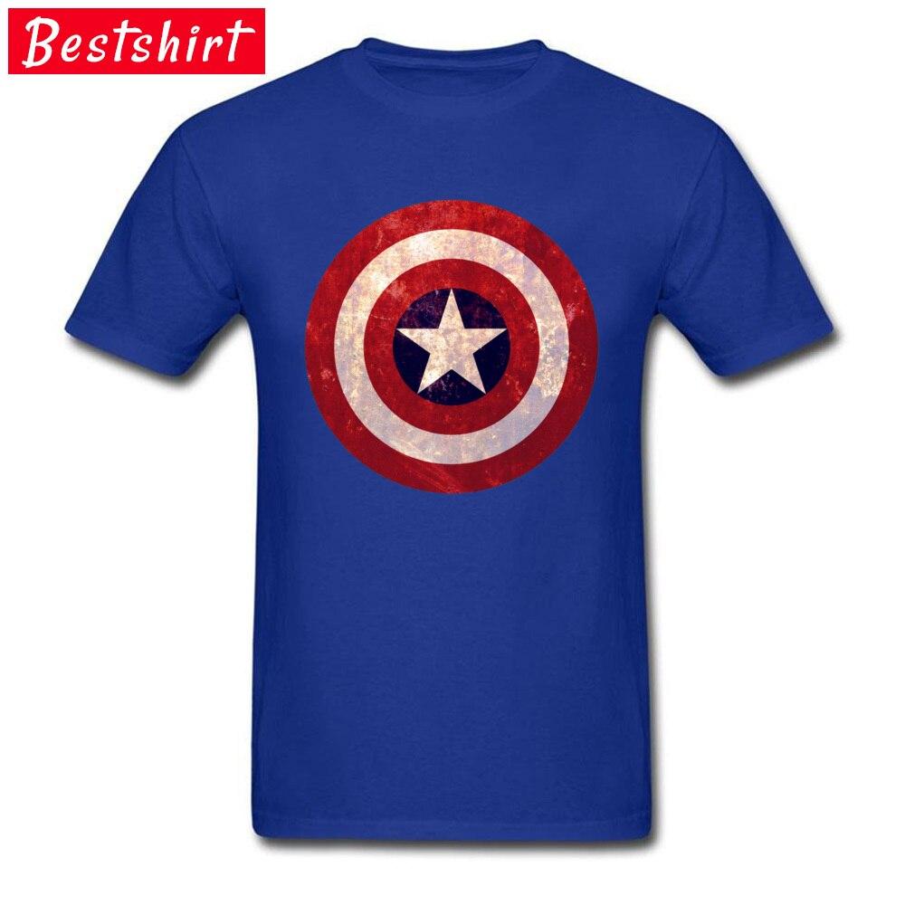 Captain america C Pure Cotton Tshirts for Men Short Sleeve T Shirt 2018 Fashion April FOOL DAY O-Neck Top T-shirts Fitness Tight Captain america C blue