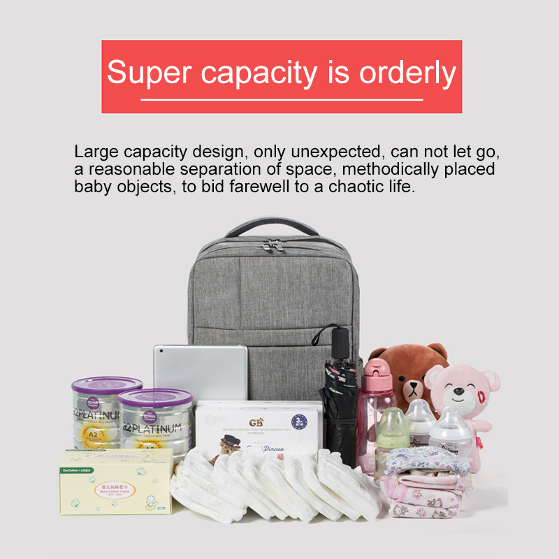 Baby Diaper Mommy Bag Multifunctional Fashion Large Capacity Shoulder Out Backpack Waterproof Infant Maternity Nursing Bag