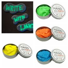1 PC 2017 Hot Sale Hand Putty Luminous Slime Play Dough Magnetic Rubber Glowing Mud Polymer Kids Educational Novelty Toy(China)