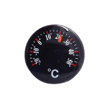 Diameter 20mm Plastic Round Mini Thermometer mini spirit Circular Thermograph Celsius hydrothermograph(China)