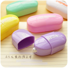 Candy color correction tape pen mini Capsule corrective tapes for student stationery fita corretiva material School supplies(China)
