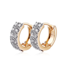Fashion Jewellery Huggie Earing for Women White Shining Cubic Zirconia Pretty Hoop Earings Design Wedding Earring Brinco Bijoux