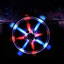 2Pcs LED Car Wheel Light LED Car Rim Solar Car Lights Auto Flash Discoloration LED Car Decoration Wheel Tire Hub Auto Light Lamp(China)