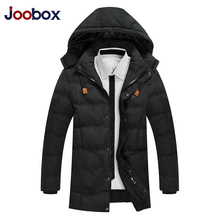 JOOBOX 2017 High quality Winter Jacket Men,Thicken long men's winter coat, hoded Cotton men Parka brand clothing (PW623)