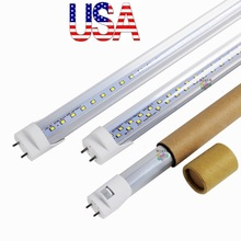 Stock In US + bi pin 4ft led t8 tubes Light 18W 22W 28W Double Rows T8 Replace regular Tube AC 110-240V UL FCC(China)