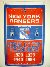 York Rangers Stanley Cup Champions Flag 3x5 FT 150X90CM NHL Banner 100D Polyester Custom flag grommets 6038, - Seabow Manufacturer Co., Limited store