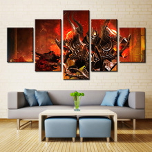 New 5 Pieces/sets Canvas Art Canvas Paintings HD 5 Panel Anime Gaming Tagged Decorations For Home Wall Art Prints Canvas\A232(China)