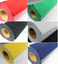 One Yard Flocking Heat Transfer Vinyl Film Vinyl Cutter DIY T-shirts 12 Colors for Choosing