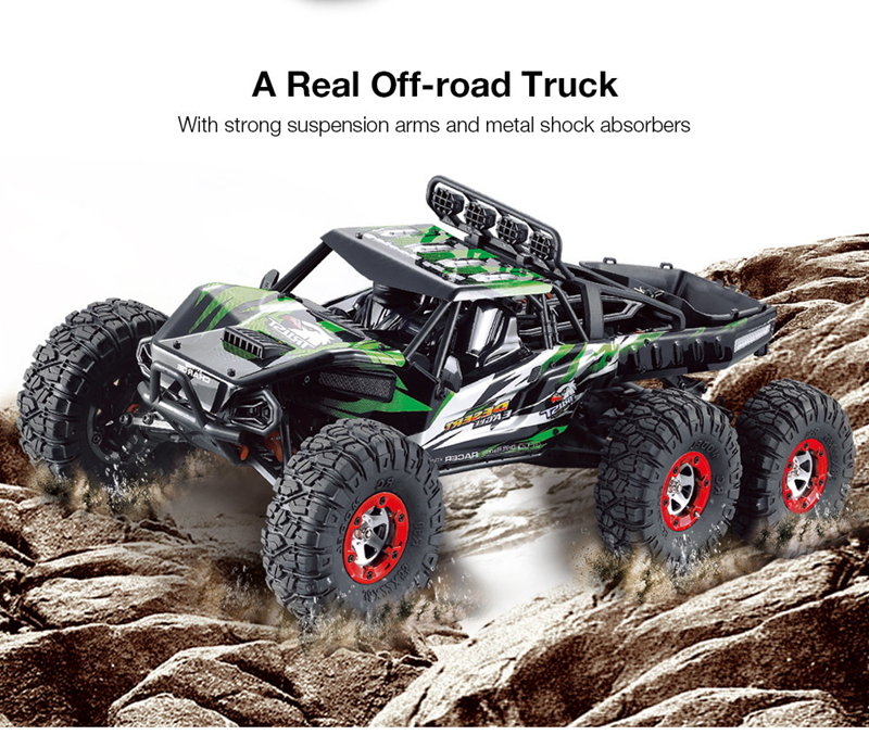 06-3 FY06FY07 112 2.4GHz 6WD RC Off-road Desert Truck RTR 60km70km High Speed Metal Shock Absorber LED Lights boy best gift toy