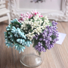 144pcs/lot Mulberry stems Artificial Flowers Stamen /DIY Pistils For Flowers Heads Wedding Scrapbooking Wire Craft Decoration(China)
