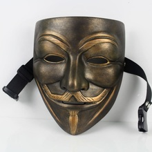 V For Vendetta Mask Guy Fawkes Cosplay Party Halloween Horror Mask Masquerade Fancy Costume Face Mask Top Grade Resin