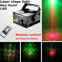 Good quality  Laser projector stage light 18 patterns led Club Party Bar DJ light Dance Disco party Stage Lights show system L40