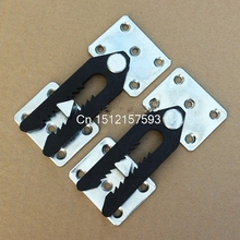 2 x Sofa Couch Sectional Furniture Connector Joint Snap Alligator Style